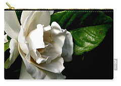White Gardenia Carry-all Pouch by Rose Santuci-Sofranko