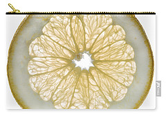 White Grapefruit Slice Carry-all Pouch by Steve Gadomski