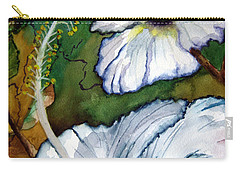 White Hibiscus Carry-all Pouch by Lil Taylor
