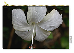 White Hibiscus Carry-all Pouch by Pamela Walton