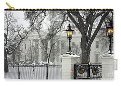 White House Christmas Carry-all Pouch