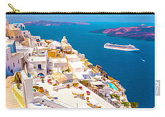 White Houses Of Santorini Carry-all Pouch