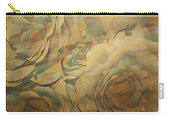 Carry-all Pouch featuring the photograph  Impressionisticwhite Roses by Dora Sofia Caputo Photographic Art and Design