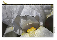 Carry-all Pouch featuring the photograph White Iris by Joy Watson