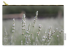Carry-all Pouch featuring the photograph White Lavender by Lynn Sprowl