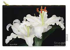 Carry-all Pouch featuring the photograph White  Lilies by Jeannie Rhode