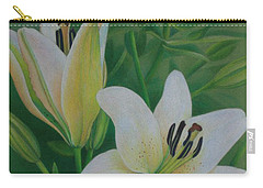 White Lily Carry-all Pouch by Pamela Clements