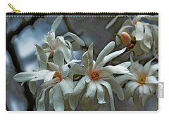 Carry-all Pouch featuring the photograph White Magnolia by Rowana Ray