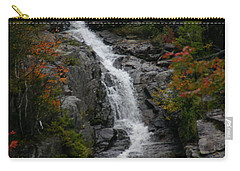 Carry-all Pouch featuring the photograph White Mountain Water Fall  by Denyse Duhaime