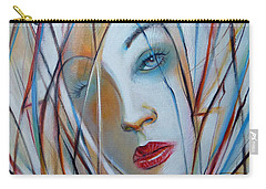 Carry-all Pouch featuring the painting White Nostalgia 010310 by Selena Boron