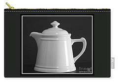 Carry-all Pouch featuring the photograph White On Black by Victoria Harrington