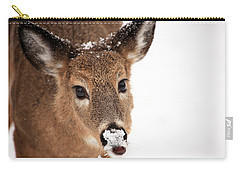 White On The Nose Carry-all Pouch by Karol Livote