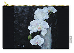White Orchid Carry-all Pouch by Judith Rhue