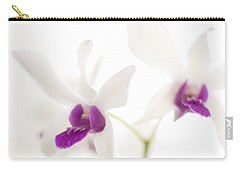 Carry-all Pouch featuring the photograph White Orchids by Bradley R Youngberg