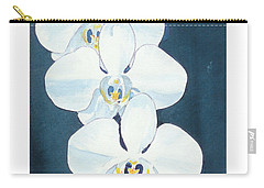 White Orchids Carry-all Pouch by C Sitton