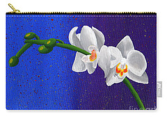Carry-all Pouch featuring the painting White Orchids by Laura Forde