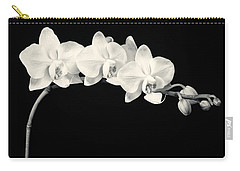 White Orchids Monochrome Carry-all Pouch by Adam Romanowicz