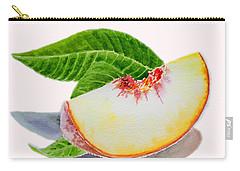 White Peach Slice  Carry-all Pouch by Irina Sztukowski