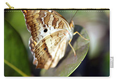 Carry-all Pouch featuring the photograph White Peacock Butterfly by Greg Allore