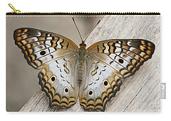 White Peacock Butterfly Carry-all Pouch by Judy Whitton