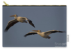 Carry-all Pouch featuring the photograph White Pelican Photograph by Meg Rousher
