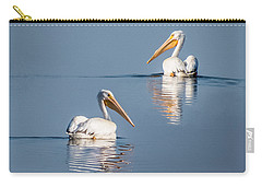 Carry-all Pouch featuring the photograph White Pelicans by Patti Deters