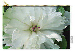 Carry-all Pouch featuring the photograph White Peonese by Verana Stark