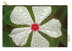 Carry-all Pouch featuring the photograph White Periwinkle by Mark Greenberg
