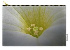 White Petunia 2 Carry-all Pouch by Barbara Yearty