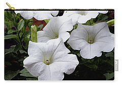 White Petunia Blooms Carry-all Pouch