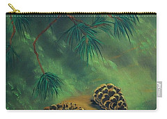 White Pine  And Cones Carry-all Pouch