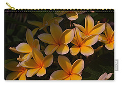 Carry-all Pouch featuring the photograph White Plumeria by Miguel Winterpacht
