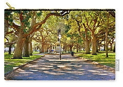 Carry-all Pouch featuring the photograph White Point Gardens At Battery Park Charleston Sc Hdr by Lisa Wooten