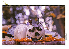 White Pumpkin Carry-all Pouch by Aaron Aldrich