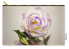 White Purple Lisianthus Carry-all Pouch