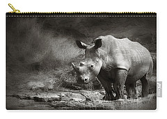 White Rhinoceros Carry-all Pouch
