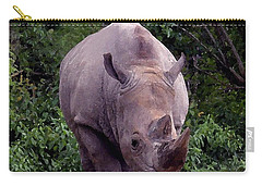 White Rhinoceros Water Coloring Carry-all Pouch