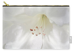 White Rhododendron Flowers Carry-all Pouch