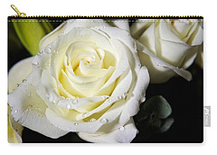 White Rose Carry-all Pouch by Dave Files