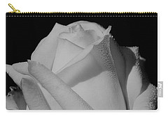 Carry-all Pouch featuring the photograph White Rose by Michelle Joseph-Long