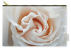 White Rose Carry-all Pouch by Tiffany Erdman