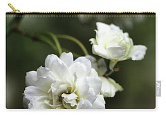 Carry-all Pouch featuring the photograph White Roses by Joy Watson