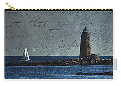 Carry-all Pouch featuring the photograph White Sails On Blue  by Jeff Folger