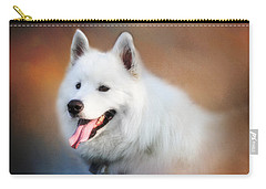 White Samoyed Portrait Carry-all Pouch