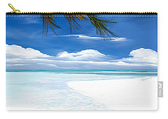 Carry-all Pouch featuring the digital art White Sand And Turquoise Sea by Anthony Fishburne