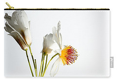 White Sparmannia Africana Plant. Carry-all Pouch