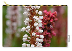 White Stalk Flower Carry-all Pouch