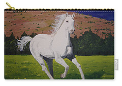 Carry-all Pouch featuring the painting White Stallion by Norm Starks