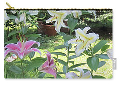 White Stargazers Lilies Carry-all Pouch