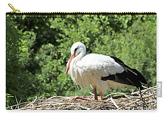White Stork  Carry-all Pouch by Teresa Zieba